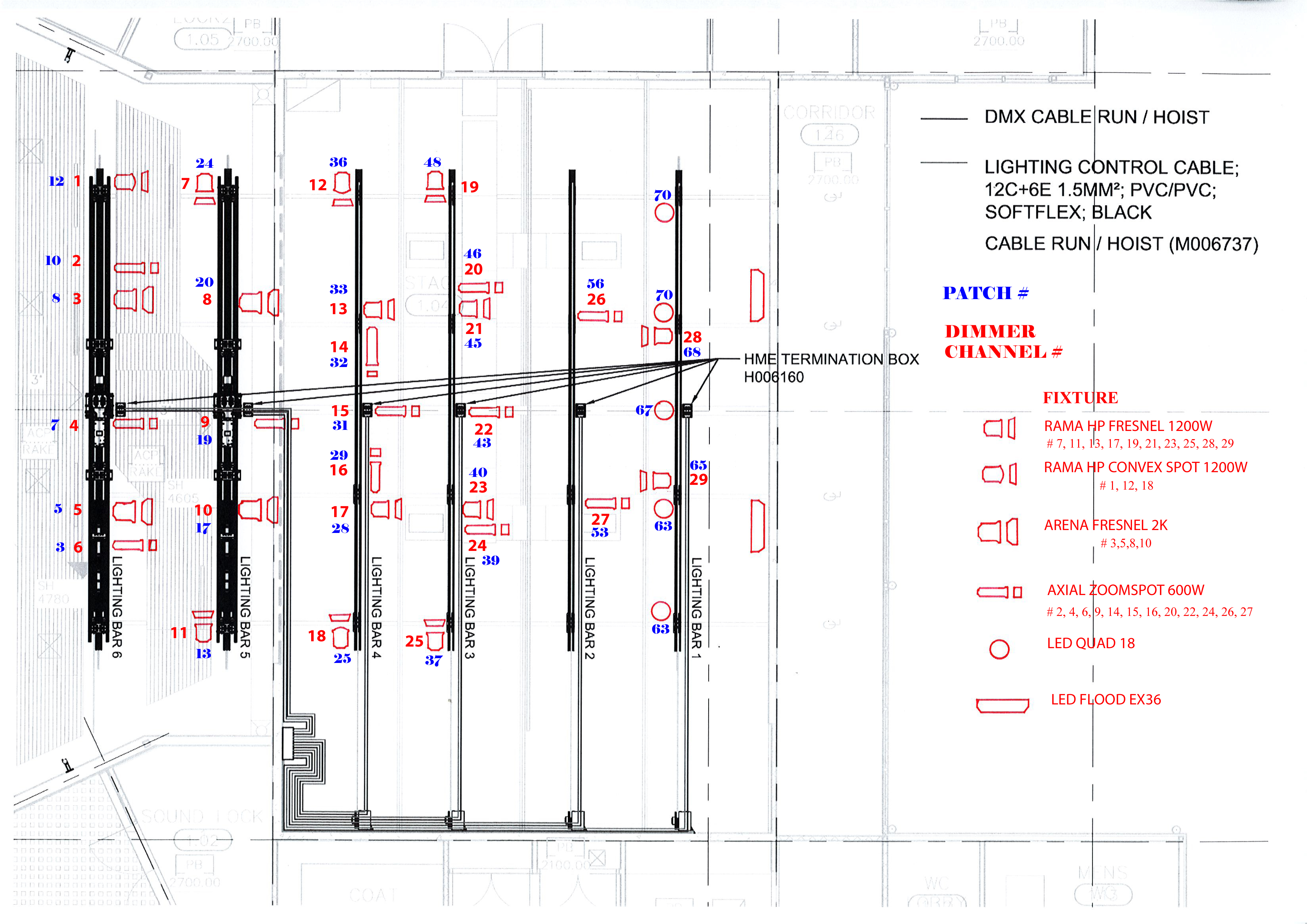 About The Theatre Centenary Lighting Diagram Fixtures Plan